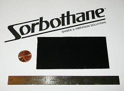 SORBOTHANE SHEET 2x4x0.04in (50x100x1mm) VIBRATION ISOLATION RUBBER PAD 50D