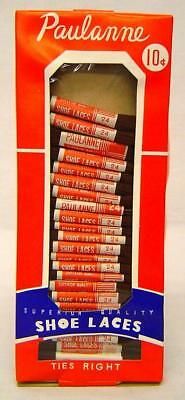Vintage 1940's 24 pairs of shoe laces in Store Display