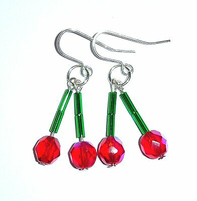 Cute Cherry Drop Earrings