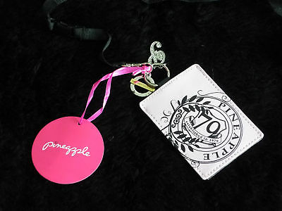 PINEAPPLE Ladies Gym Luggage Bag Tag NEW pink & black girls womens Keyring