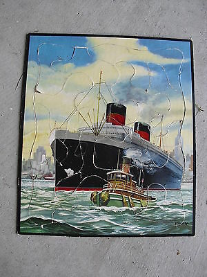 Vintage 1950s Whitman Cruise Ship Tray Puzzle