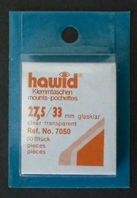 Hawid Stamp Mounts Size (27.5) 27/33 CLEAR Pack of 50