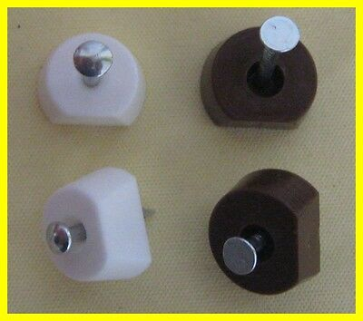 36 X White/Brown Knock In Shelf Supports / Pegs With Nail