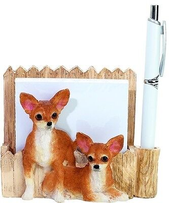 Chihuahua   ~ Desk Or Magnet Memo Note Holder   #10
