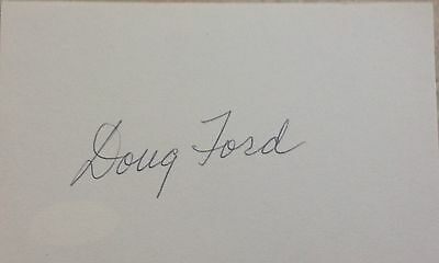 Doug Ford  Masters  Golf Index  Card With Jsa Sticker