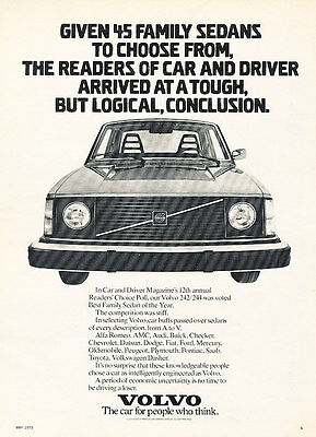 1975 Volvo 242 244 - Family - Classic Vintage Advertisement Ad D127