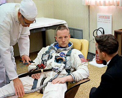NASA GEMINI 8 NEIL ARMSTRONG SUITING UP 8x10 PHOTO 1966