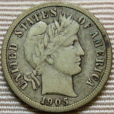1905-O Barber Dime * Better Date Coin