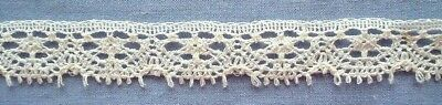 13mm  Cream Cotton Lace