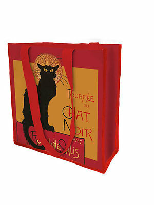 Tournee Chat Noir Black Cat Large Reuseable Shopping Bag Tote New Rodolphe Salis