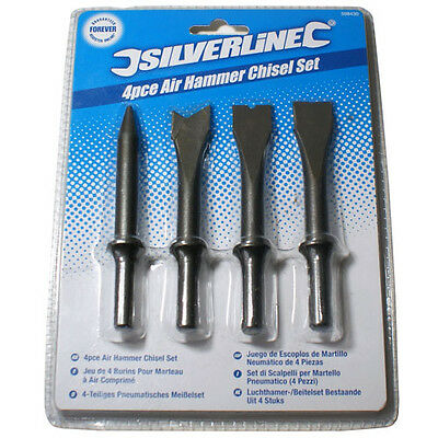 4 Piece Air Hammer Chisels- Taper Punch Spot Weld Breaker Panel Cutter Ripping