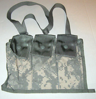NEW US Army Military Surplus MOLLE II 6 Mag ACU Bandoleer Pouch Universal Camo