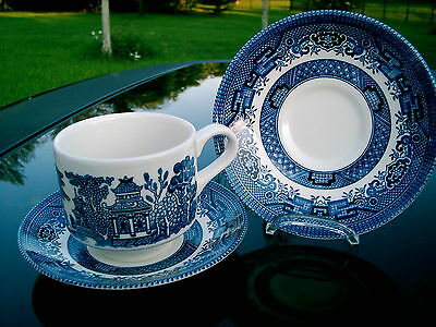Churchill  Pattern  Blue Willow   England Cup & Saucer  Replace Broken  One