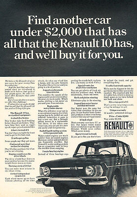 1968 Renault 10 - Another - Classic Vintage Advertisement Ad D139