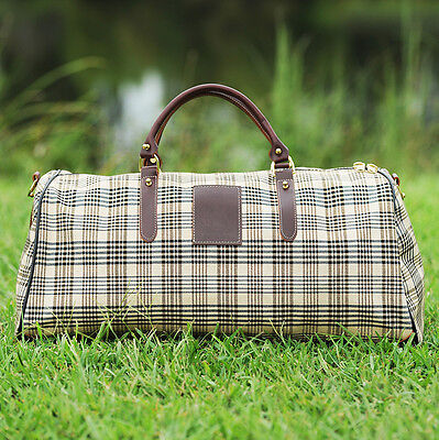 Baker Duffle Bag - Brown Plaid