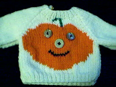 Valentine Heart Sweater Handmade for 16 inch Cabbage Patch Kid Doll Made in USA