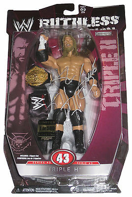 Wwe Ruthless 43 Triple H 1 Of 500 Signed Figure W/proof