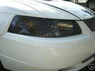 99-04 Ford Mustang Smoke Head Light Precut Tint Cover Smoked Overlays
