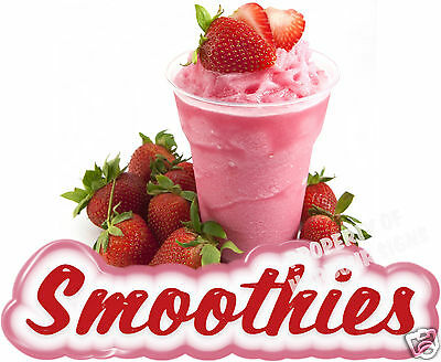 "Smoothies Decal 14"" Fresh Fruit Drink Concession Food Truck Vinyl Sign Sticker"