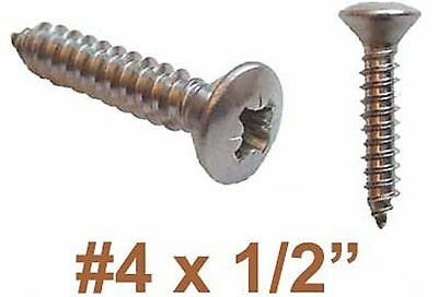 "4g x 1/2"" Stainless Pozi Raised Countersunk Self Tapping Screw (3mm x 13mm) x100"