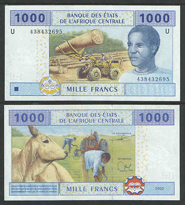 CENTRAL AFRICA CAMEROUN 2002 1000 FRANCS Cat # P-New UNCIRCULATED