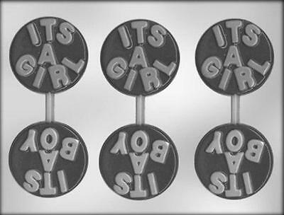 It's a Boy - It's a Girl Baby Chocolate Lollipop Candy Mold from CK  #11521