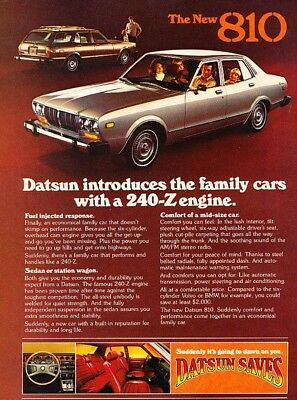 1977 Datsun 810 - Injected - Classic Vintage Advertisement Ad D150