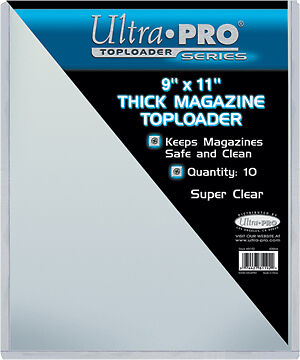 NIP Ultra Pro Pack of 10 Toploaders 9x11.5 Perfect for Magazines Signed Thick