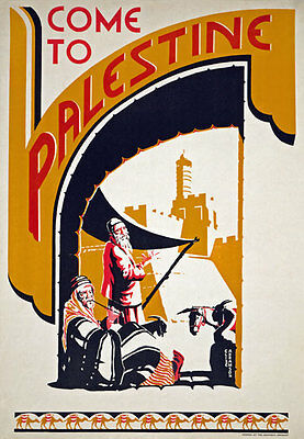 TW60 Vintage 1930's Come To Palestine Travel Poster Re-Print A4