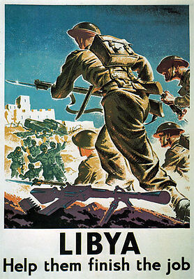 WB3 Vintage WW2 Libya Help Them Finish The Job British WWII War Poster Print A4