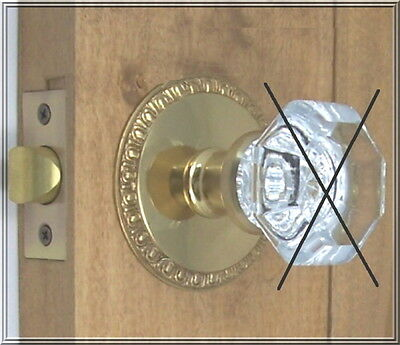 "Retrofit Kit-fit Your Antique Knobs in drilled Doors-Solid Brass 3"" Rosettes"