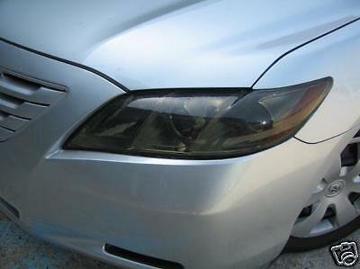 Precut Smoke Head Light Tint Vinyl Overlays For 07-11 Camry