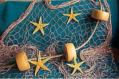 15 X 8 Fishing Net Star Fish Rope Floats Tropical Wall Picture Prop