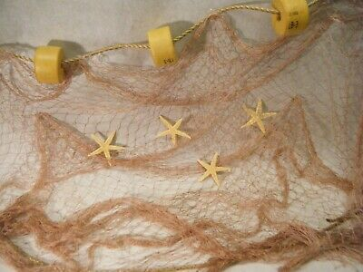25 Ft X 8 Ft  Fishing Net Star Fish Rope Floats Ocean Theme Beach Nautical Nets