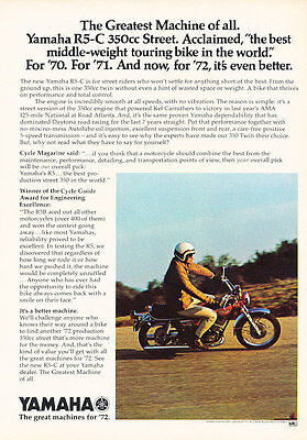 Classic Vintage Advertisement Ad D208 Seca 1984 Yamaha Virago Motorcycle