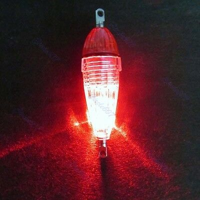 Mini LED Deep Drop Underwater Fishing Squid Fish Lure Light Red Flashing Lamp