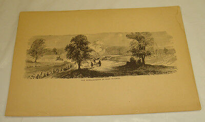 1876 Antique Print/BOMBARDMENT OF FORT WAGNER