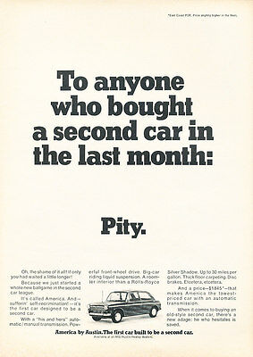 1965 Austin America - Pity - Classic Vintage Advertisement Ad D170