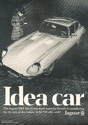 1969 Jaguar XKE - Idea - Classic Vintage Advertisement Ad D176
