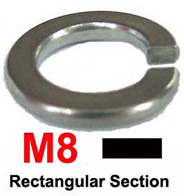 M8 Stainless Steel Spring Washers Rectangular Section M8 / 8mm Spring Washer x50