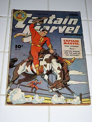 CAPTAIN MARVEL ADVENTURES #51 (1946) VG cond.  OFF-WHITE PAGES!!