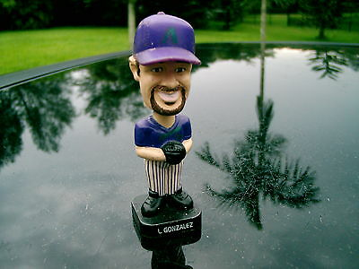 """Lil' Bobber  L. GONZALEZ  MLB 4"""" Bobblehead~ GOOD CONDITION  LOOK AT ALL OF THEM"""