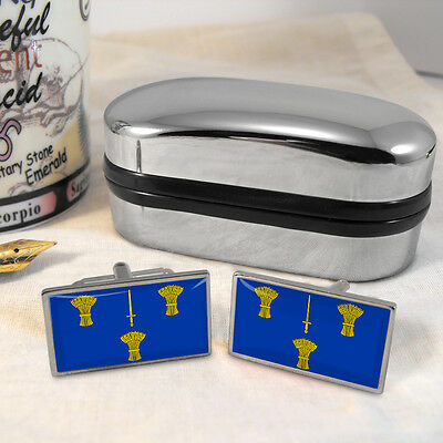 Cheshire County Flag  Cufflinks & Box
