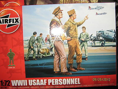 Airfix WWII USAAF Personnel Set-1/72 Scale-FREE SHIPPING