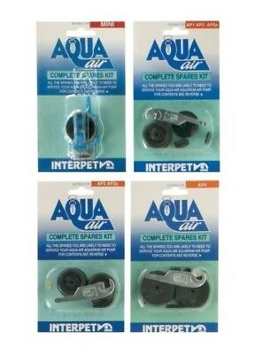 Interpet Aqua Air Complete Spares Kit Apmini Ap 1 2 3 4 Fish Tank Air Pump