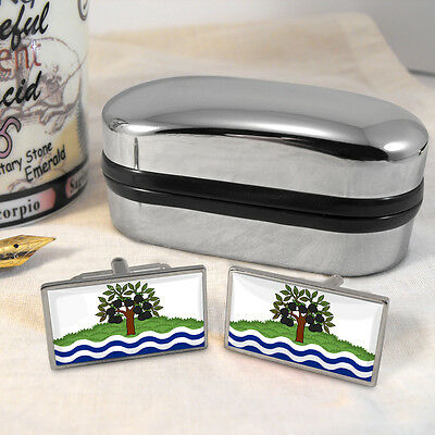 Worcestershire County Flag  Cufflinks & Box