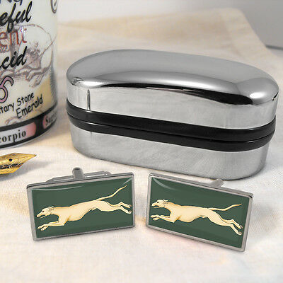 Greyhound Courant  Cufflinks & Box