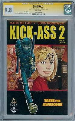 Kick-Ass 2 #1 Cgc 9.8 Signature Series Ss Signed John Romita Jr & Sketch Movie