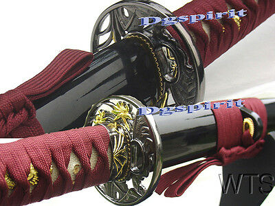 "40.9"" Hand Forged Tiger Lily Japanese Katana Sword"