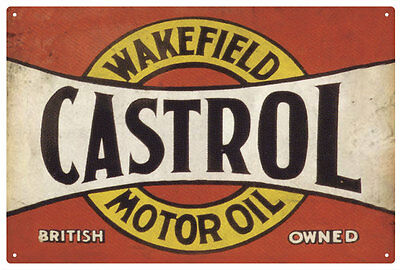 CASTROL WAKEFIELD CASTROL MOTOR OIL VINTAGE  TIN SIGN EXTRA LARGE 80 x 53 cm